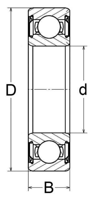 ROULEMENT A BILLES ETANCHE 40X90X23 6308 2RS F.P