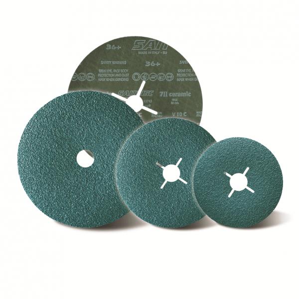 Disques abrasifs sur fibre 125 x 22+ 60+7I-I