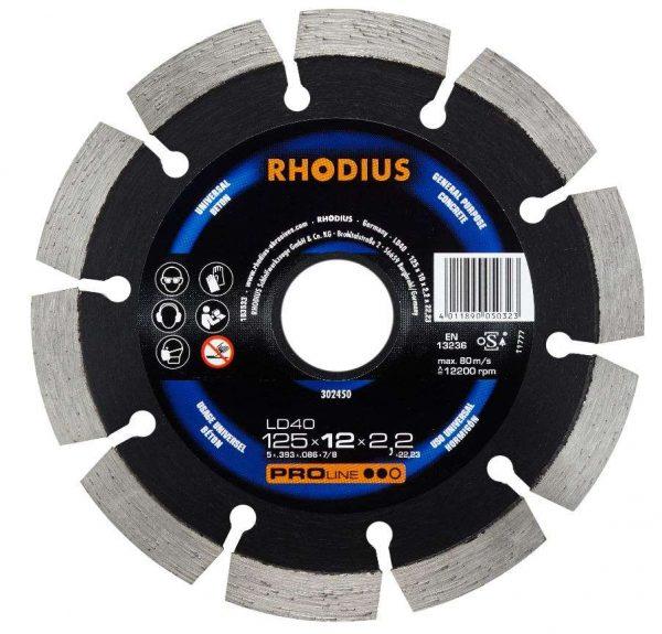 Disque à tronçonner diamant LD40 125 x 12,0 x 2,2 x 22,23 mm