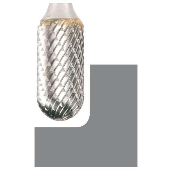 Fraise en carbure de tungstène forme C 9,6 x 19 x 6 x 64 mm