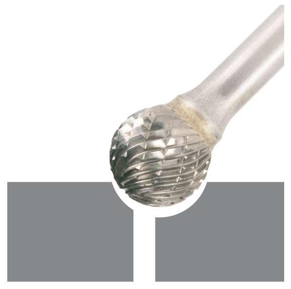 Fraise en carbure de tungstène, forme D 9,6 x 8 x 6 x 54 mm