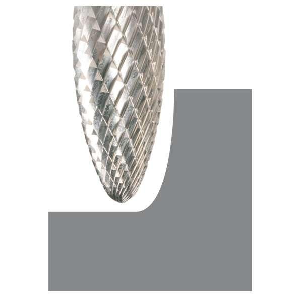Fraise en carbure de tungstène, forme H 12,7 x 32 x 6 x 77 mm