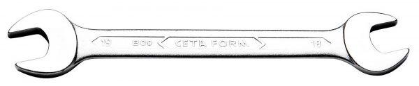 Clés plates 31CrV3 – 18 x 19 mm – sur carte