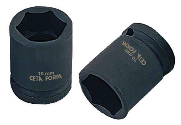 Douille à choc 6-pans – 1/2 – 13 mm / 38 mm – Chrome noir