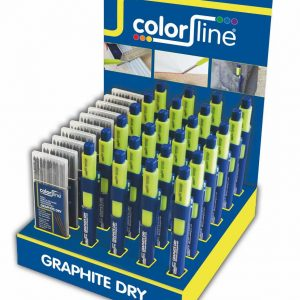 Assortiment de porte-mine et mines de rechange en display: 24 X Crayon GRAPHITE DRY + 10 x mines graphites