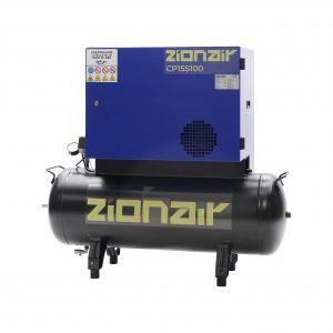 Compresseur amorti 1,5kW 230V 10 bar réservoir 100L