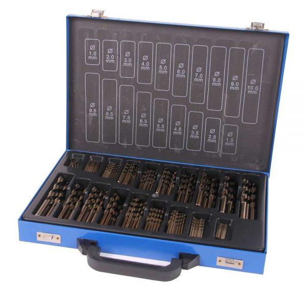 Jeu de forets métalliques HSS cobalt 170 pcs