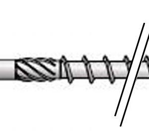 Vis constr bois HAPAX TF-T Ø6×80 Zn
