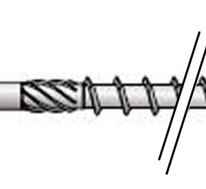 Vis constr bois HAPAX TF-T Ø6×300 Zn