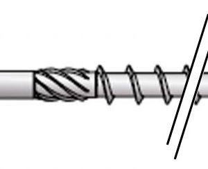 Vis à bois univ HAPAX TF-T Ø5×100 Zn