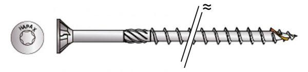Vis à bois univ HAPAX TF-T Ø3,5×30 Zn