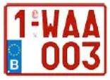 Plaque Immatriculation 21×14 Rubis – ALU