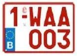 Plaque Immatriculation 21×14 Rubis – PLEXI