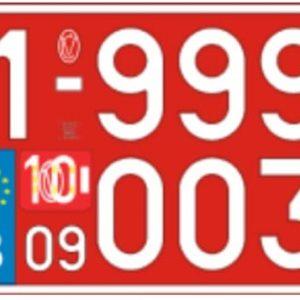 Plaque Immatriculation 34×21 Agricole – Plexi