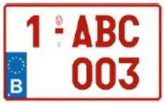 Plaque Immatriculation 34×21 Rubis – PLEXI