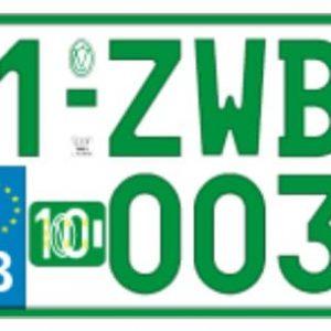 Plaque Immatriculation 34×21 Verte – ALU