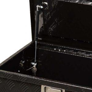 Boîte de rangement plaque à carreaux extra large enduite noire