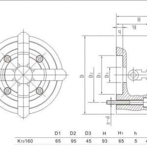 Mandrin indépendant à 4 mors 160 mm