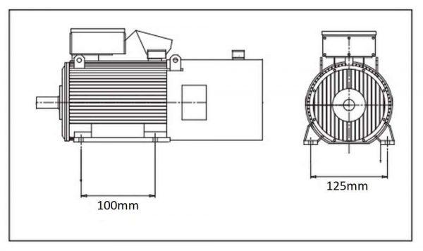 Moteur électrique 0.75kW 2800rpm 230V