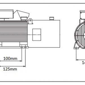 Moteur électrique 1,1kW 1410rpm 230V