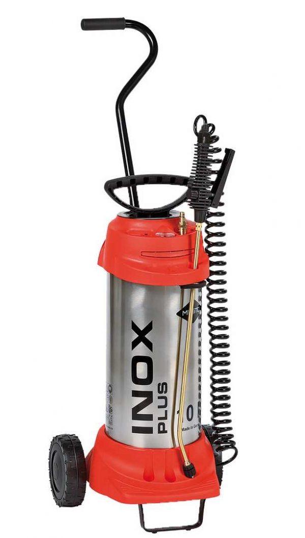 Pulvérisateur haute pression INOX PLUS, avec chariot de transport  10 L – 6 bar – inoxydable