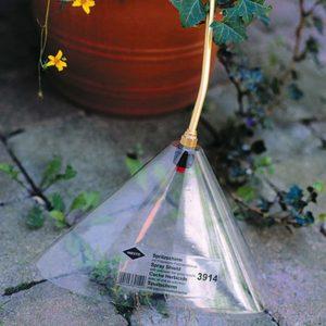Cache de pulvérisation 12 x 30 cm – plastique transparant