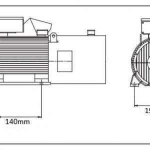 Moteur électrique 3kW 2840rpm 230 / 400V