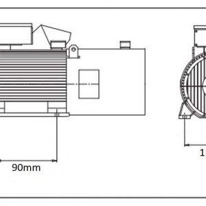 Moteur électrique 0,55kW 2760rpm 230 / 400V
