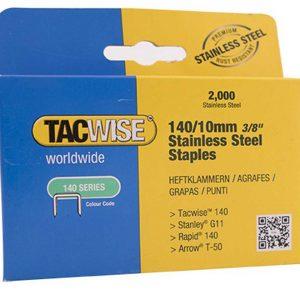 Agrafes 140/8 mm – acier inoxydable – 2000 pcs.