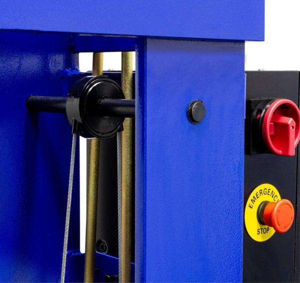 Presse d'atelier électrique avec treuil manuel 100 tonnes