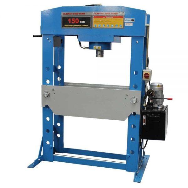 Presse d'atelier électrique avec treuil manuel 150 tonnes