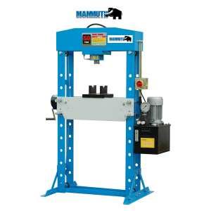 Presse d'atelier électrique avec treuil manuel 50 tonnes
