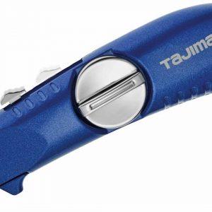 Couteau lame rétract. (bleu) à 3 lames trapézoïdale V-Rex