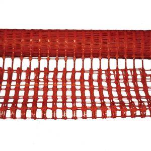 Barrière de balisage rouge ECO 50 m x 1 m – 120 g/ m2