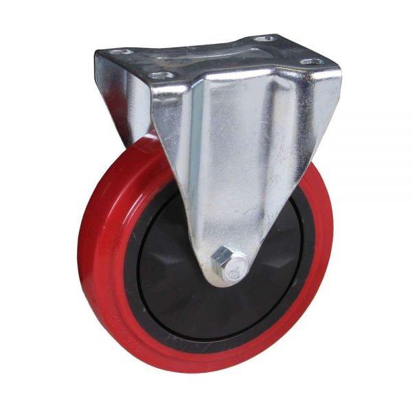 Roulette fixe 125x32mm PU
